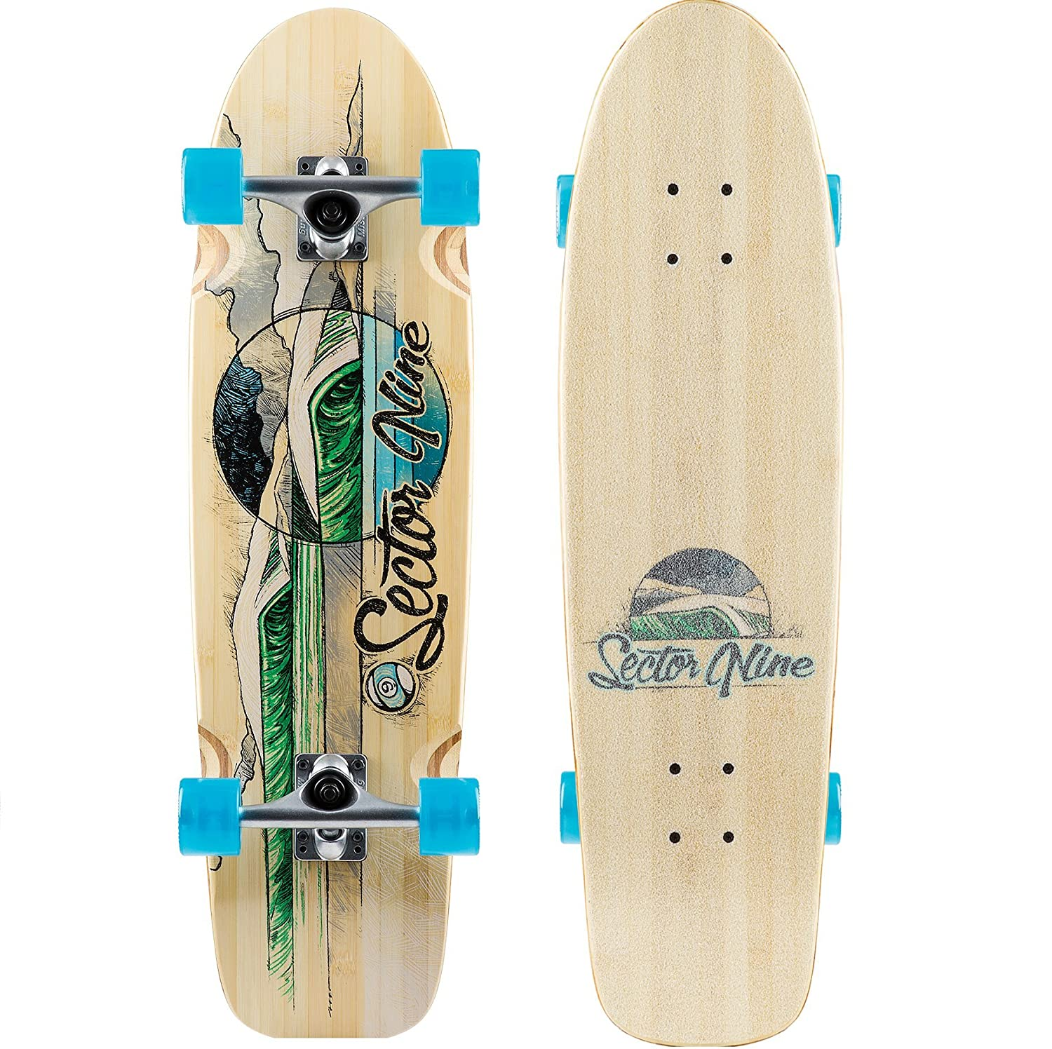 """Sector 9 Bamboo Series Bamboozler 31.5"""" Complete Longboard Sector 9 Skateboards B17AT03"""
