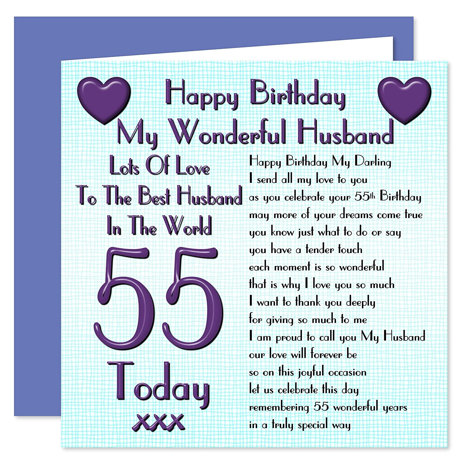 Husband 55th Happy Birthday Card