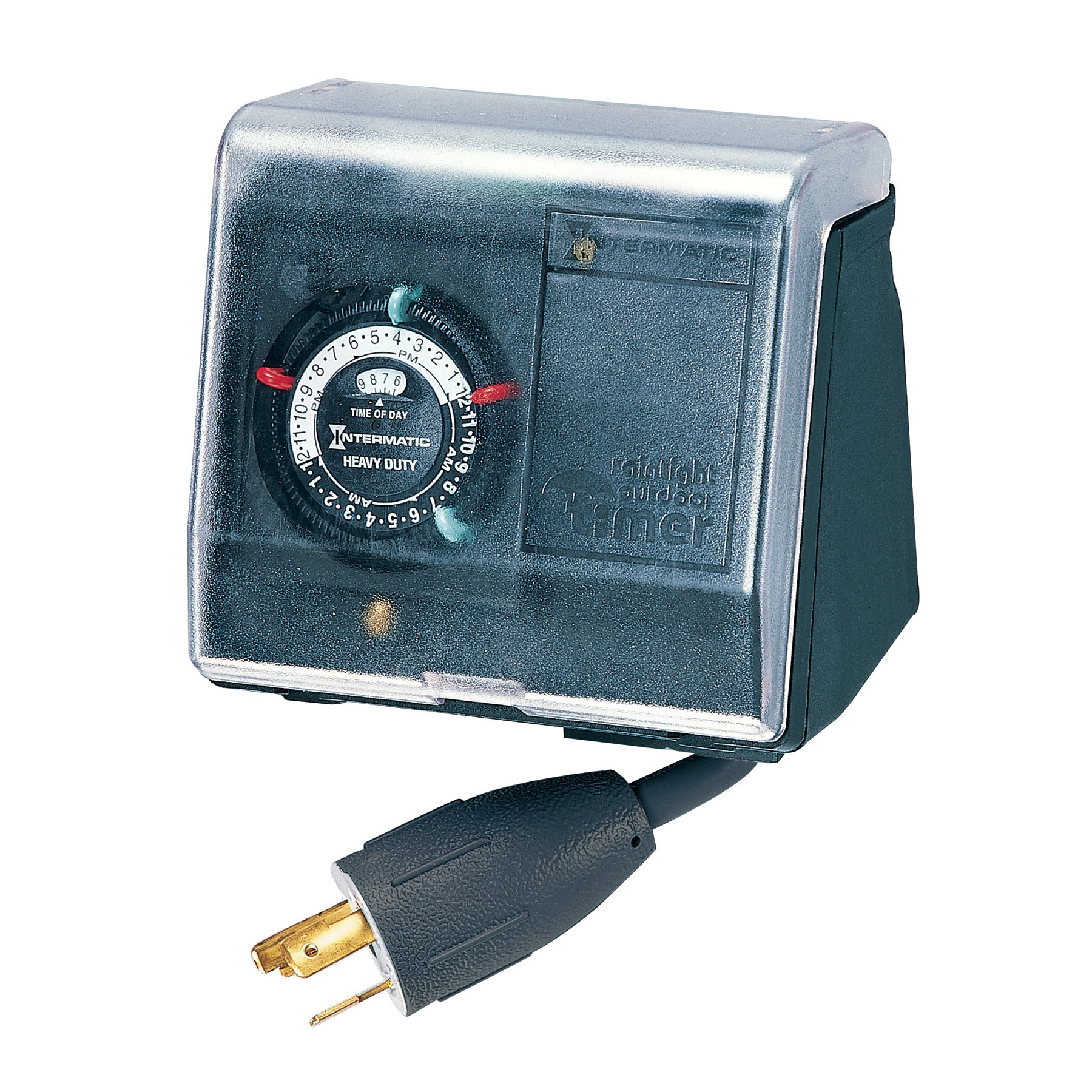 Intermatic P1131 Heavy Duty Above Ground Pool Pump Timer with Twist Lock Plug and Receptacle