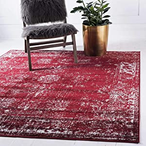 Unique Loom Sofia Traditional Area Rug_SOF001, 8 Feet, Burgundy/Ivory