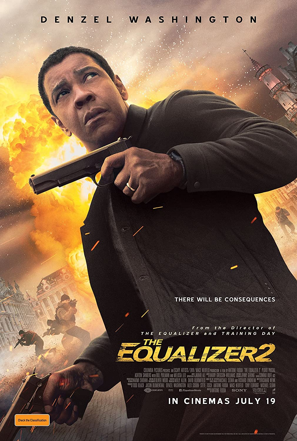 Amazon com : The Equalizer 2 Movie Poster Limited Print