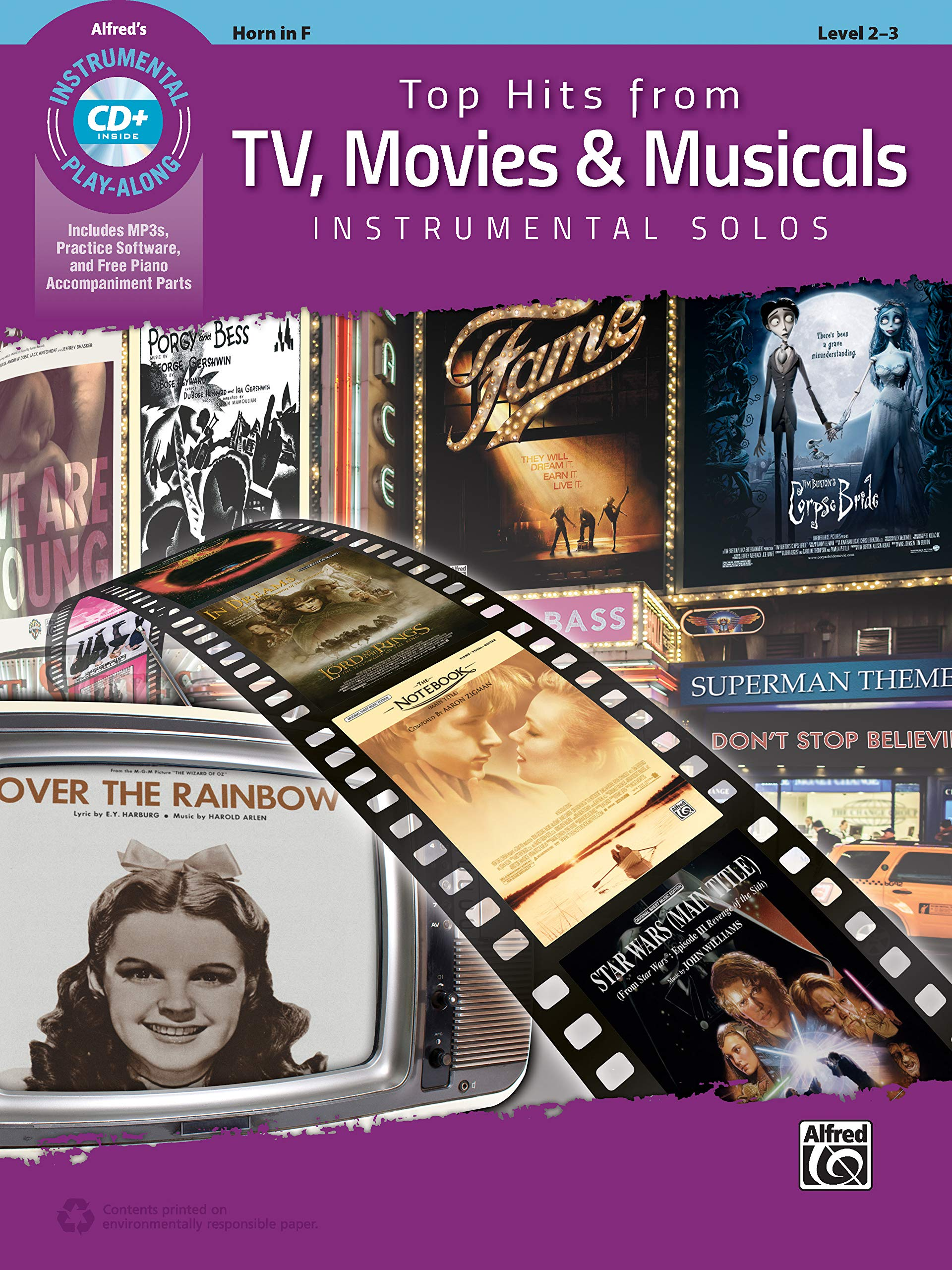Top Hits From TV Movies And Musicals Instrumental Solos   Horn In F  Incl. CD   Top Hits Instrumental Solos