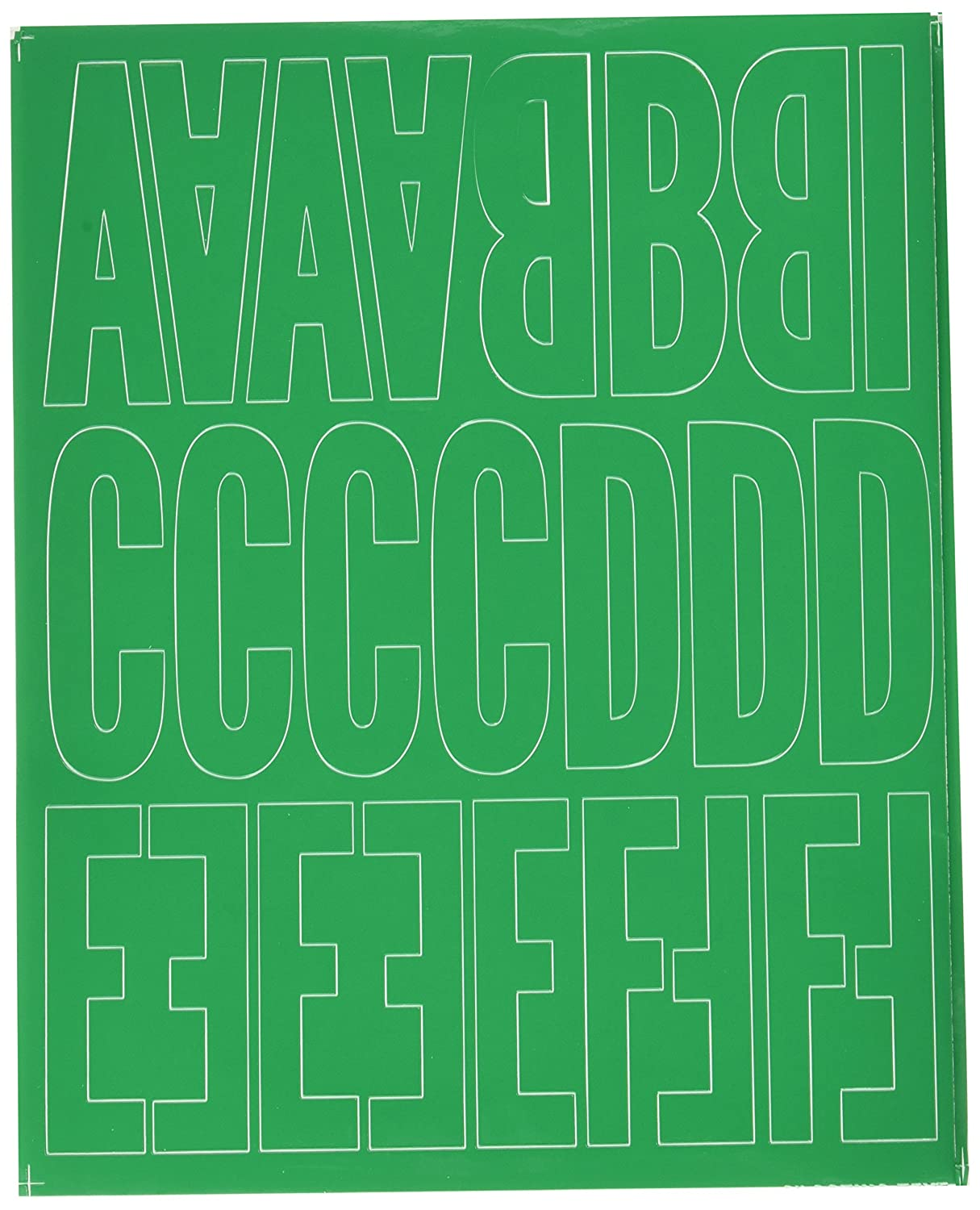 Graphic Products Permanent Adhesive Vinyl Letters and Numbers (160 /pkg), 3, Green 3 D3216-GREEN