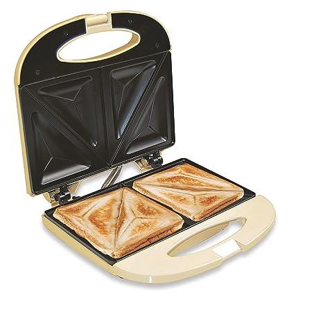 Jocca 5064C Sandwichera de Aluminio, 2 rebanadas y Placas antiadherentes, 750 W