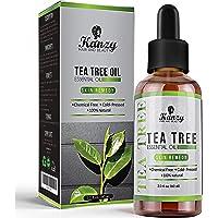 Kanzy Olejek Drzewa Herbacianego 60ml 100% Ekologiczne dla Skóry Tea Tree Oil Zabieg na Twarz, Włosy, i Paznokcie…
