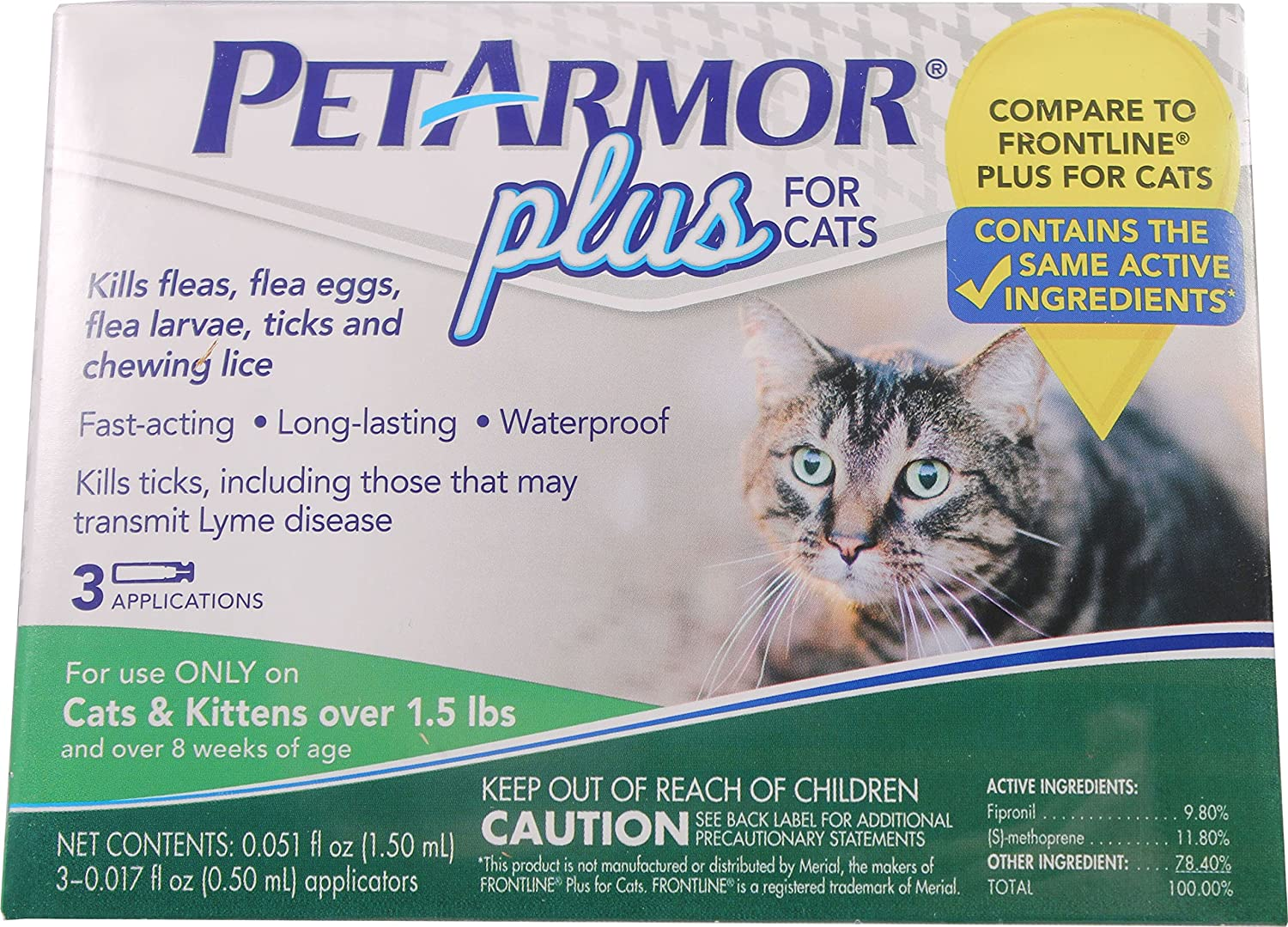 Amazon PetArmor Plus Flea & Tick Treatment for Cats over