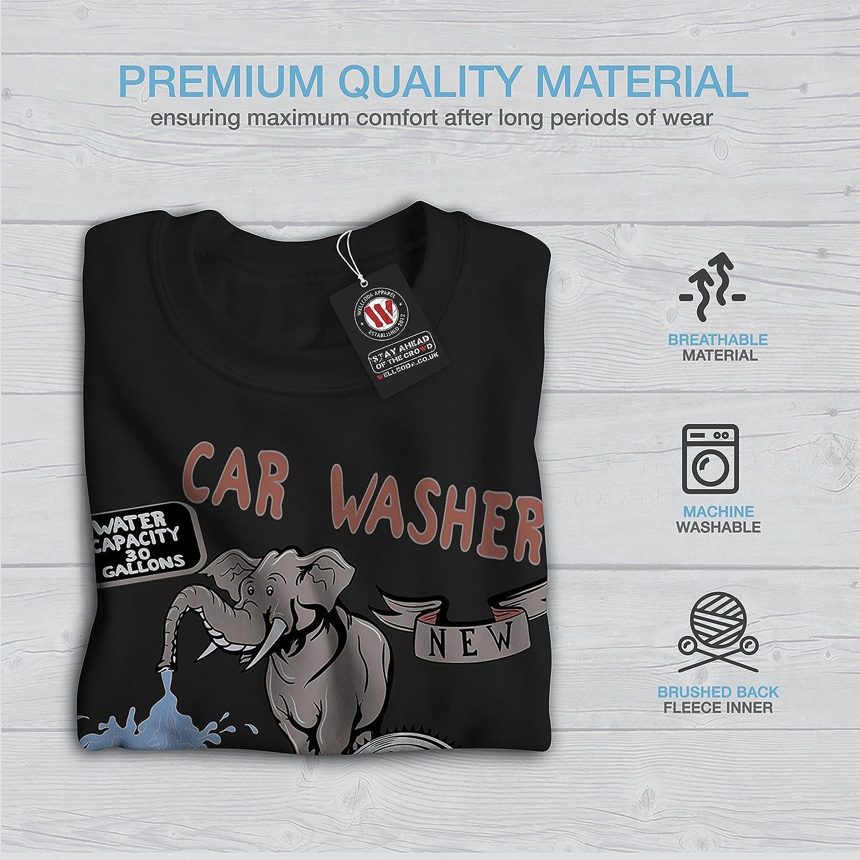 Wild Casual Jumper wellcoda Car Wash Funny Fantasy Mens Sweatshirt