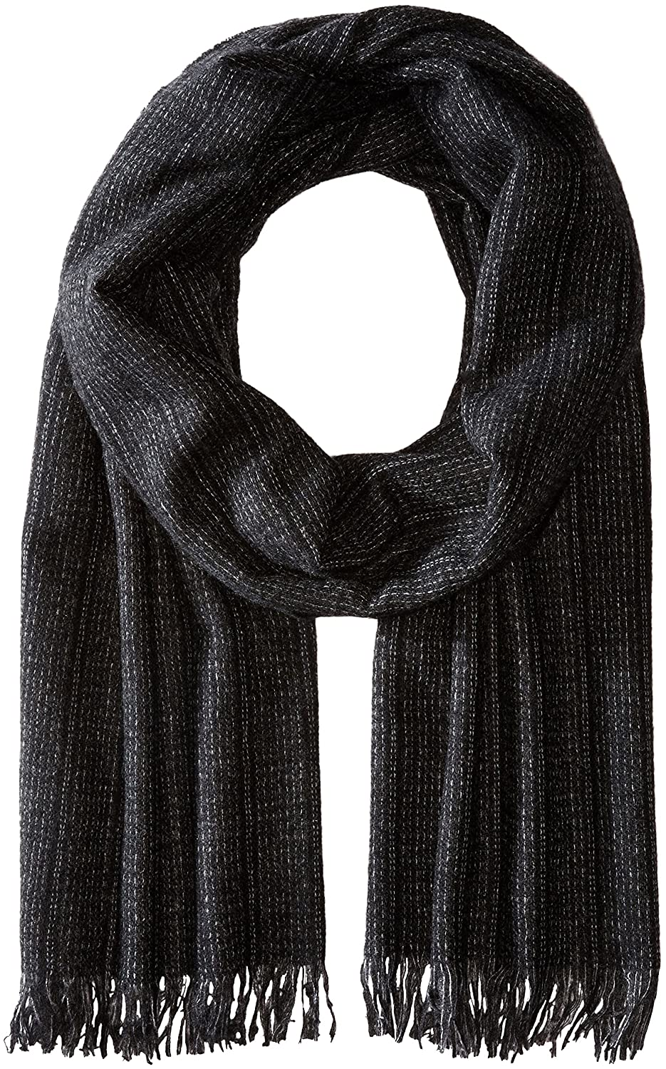 John Varvatos Star U.S.A Men's Ticking Stripe Charcoal One Size Phenix Men' s Cold Weather Accessories SCW-1881