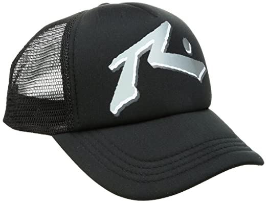 461ad5671c87e Rusty Mens STAX Trucker Cap Baseball Cap - Black -  Amazon.co.uk  Clothing