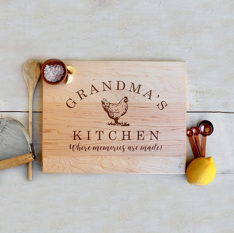 Grandmas Kitchen Wooden Cutting Board Rooster Farmhouse Kitchen Home Decor