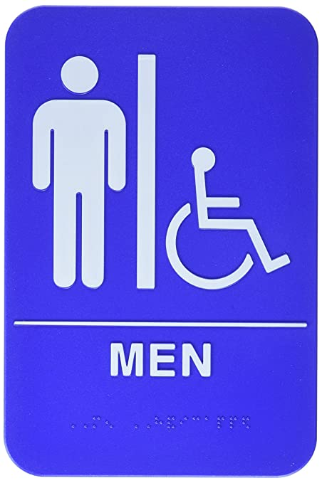 Blue mens bathroom sign Male Image Unavailable Image Not Available For Color Mens Bathroom Handicap Accessible Blue Sign Amazoncom Amazoncom Mens Bathroom Handicap Accessible Blue Sign Men