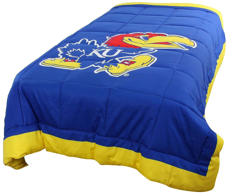 College Covers Kansas Jayhawks 2 Sided Reversible Comforter, Queen