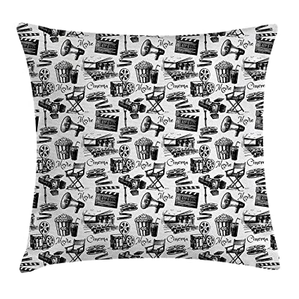 Amazon.com: niunai Movie Decor Throw Pillow Cushion Cover by ...