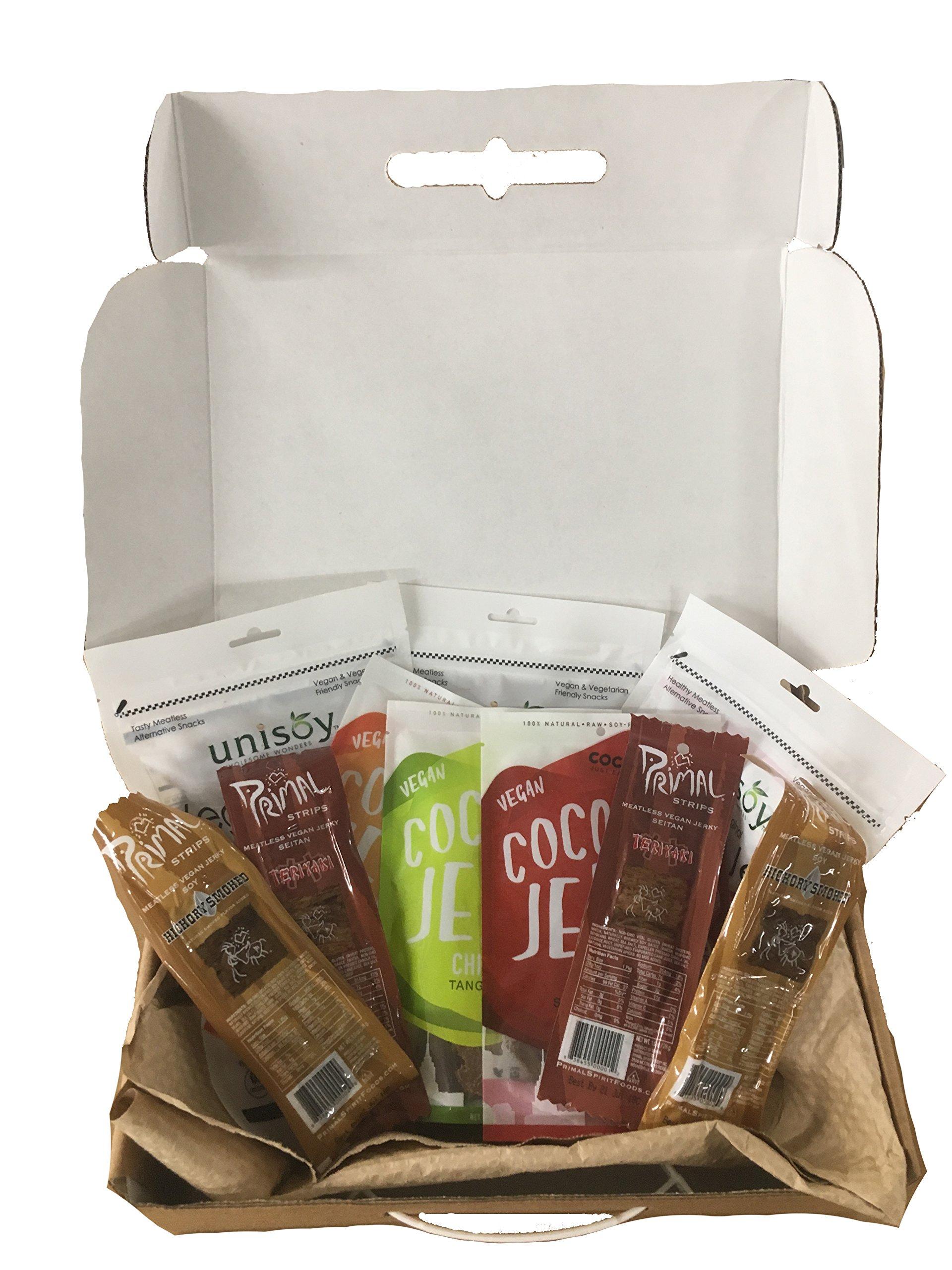 Vegan Jerky Sampler Gift Box by Newport Jerky Company
