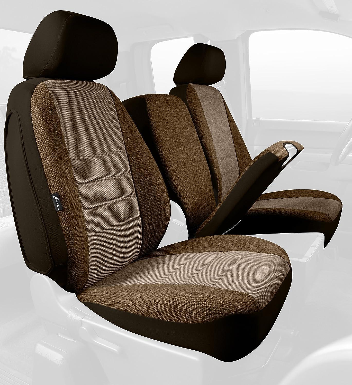 Gray Tweed, Fia OE38-25 GRAY Custom Fit Front Seat Cover Split Seat 40//20//40