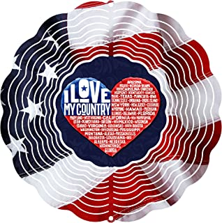 """product image for Next Innovations 101408001-COUNTRYLOV 101408001-Countrylov Wind Spinner, 10"""" Diameter, Multicolor"""