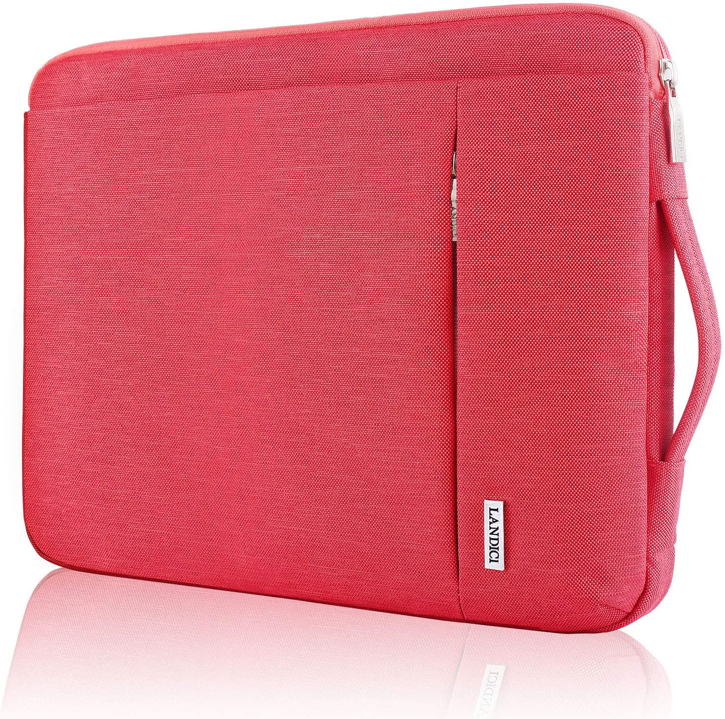 "Landici 360 Protective Laptop Case Sleeve 14-15.6 Inch,Waterproof Computer Bag Cover Compatible for 16"" New MacBook Pro,15"" Surface Laptop 3,HP Pavilion,ThinkPad E590 Chromebook -Red"