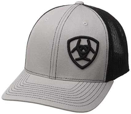 94a4b26935268 Ariat Mens Pete Flexfit Cap One Size Grey at Amazon Men s Clothing ...