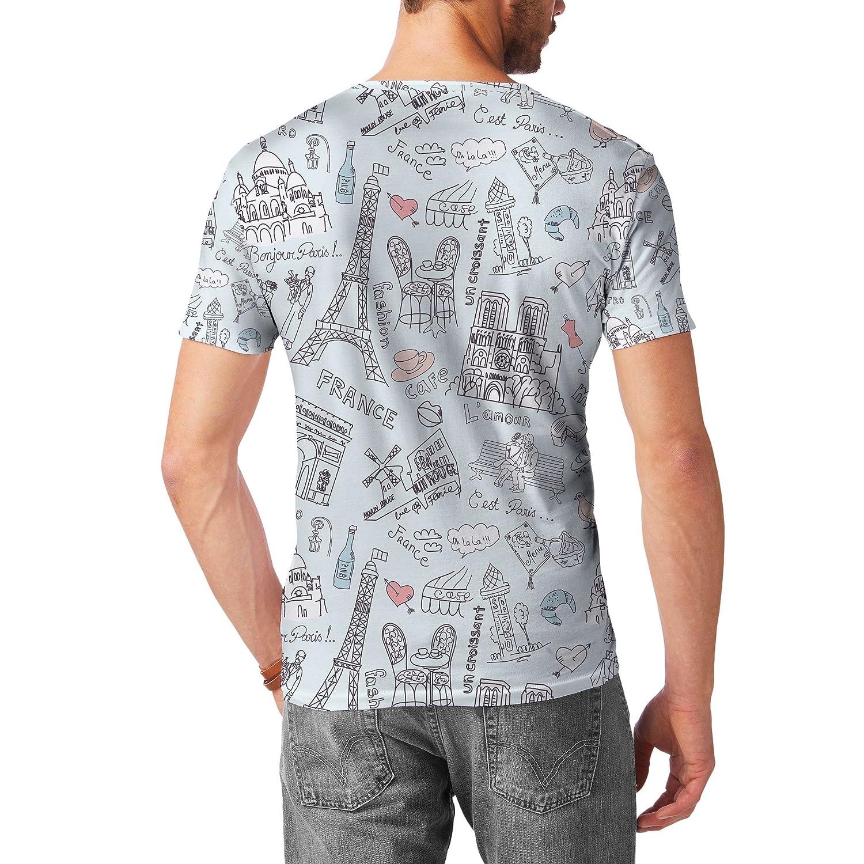 Mens Sport Mesh T-Shirt Bonjour Paris