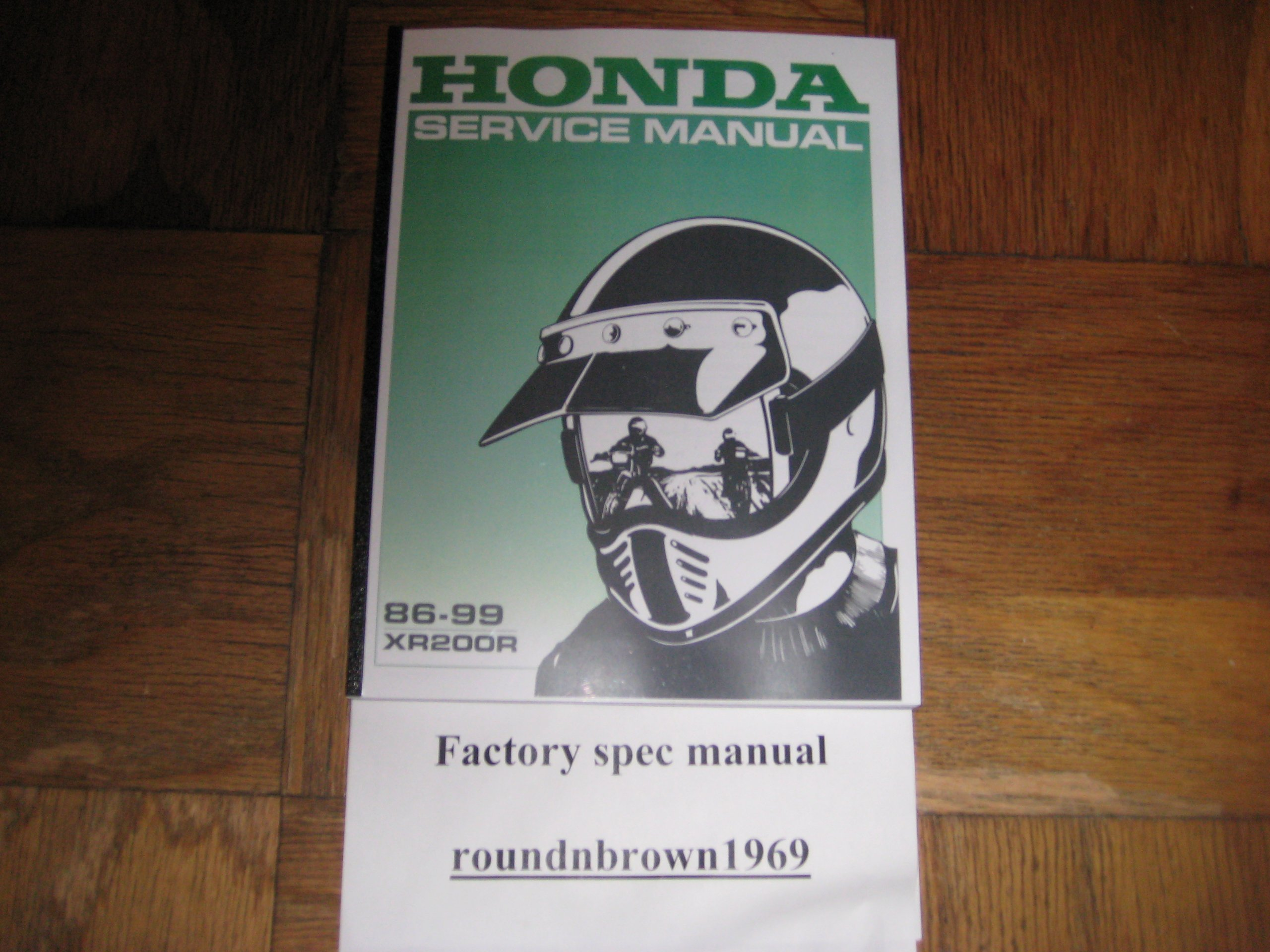 1986-1999 Honda XR200R XR200 R XR 200R Service manual Book Part# 61KT011:  HMC: Amazon.com: Books