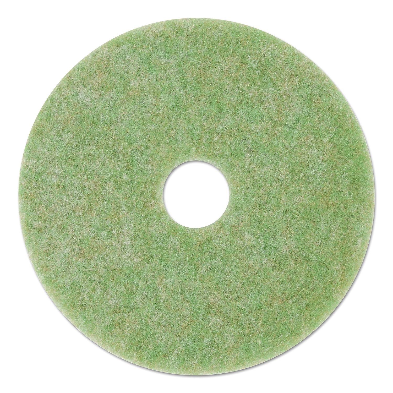 """3M 18052 Low-Speed TopLine Autoscrubber Floor Pads 5000, 20"""" Diameter, Green/Orange (Case of 5)"""