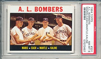 1964 Topps A L Bombers Featuring Mickey Mantle Roger Maris Al