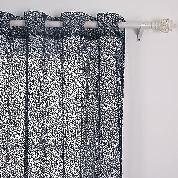 Deconovo Netz Vorhänge Ösenvorhang Voile Gardinen 240x140 cm