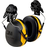 3M Peltor X-Series X2P3E Cap-Mount Earmuffs, NRR 24 dB, One Size Fits Most, Black/Yellow X2P3E (Pack of 1)