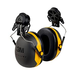 3M Peltor XSeries X2P3E CapMount Earmuffs, NRR 24 dB, One Size Fits Most, Black/Yellow X2P3E (Pack of 1)