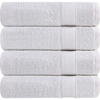 Utopia Towels 700 GSM Premium Bath Towels - 4 Pack Towel Set - (27x54 Bath Towels) - 100% Ring-Spun Cotton Towels for Home, Hotel and Spa (White)