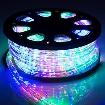Amazon best choice products 50ft led rope light waterproof best choice products 50ft led rope light waterproof indoor outdoor party christmas decorative lighting rainbow color workwithnaturefo
