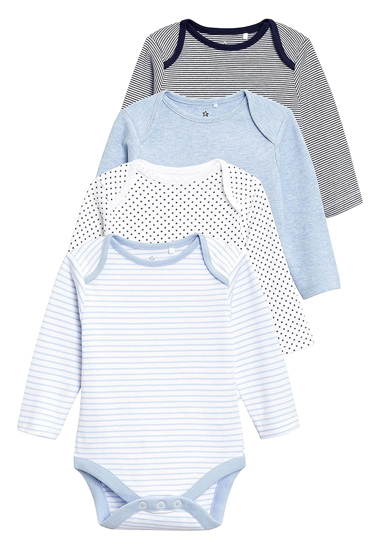 next Baby Jungen Lang/ärmelige Bodys 4Er Pack 0/Monate Bis 3/Jahre