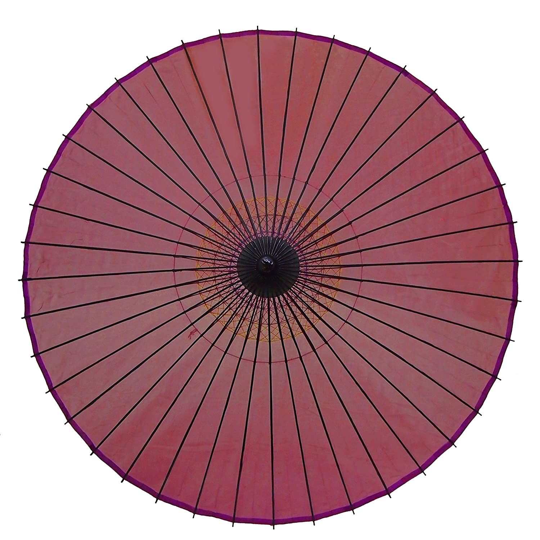 和傘 絹傘 無地 赤紫 継柄 踊り傘 B01CCYUD0I