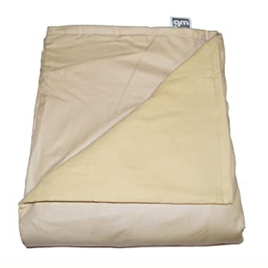 WEIGHTED BLANKETS PLUS LLC - Made in America - Adult Large Weighted Blanket - TAN - Cotton/Flannel (72  L x 42  W) 14lb Medium Pressure.