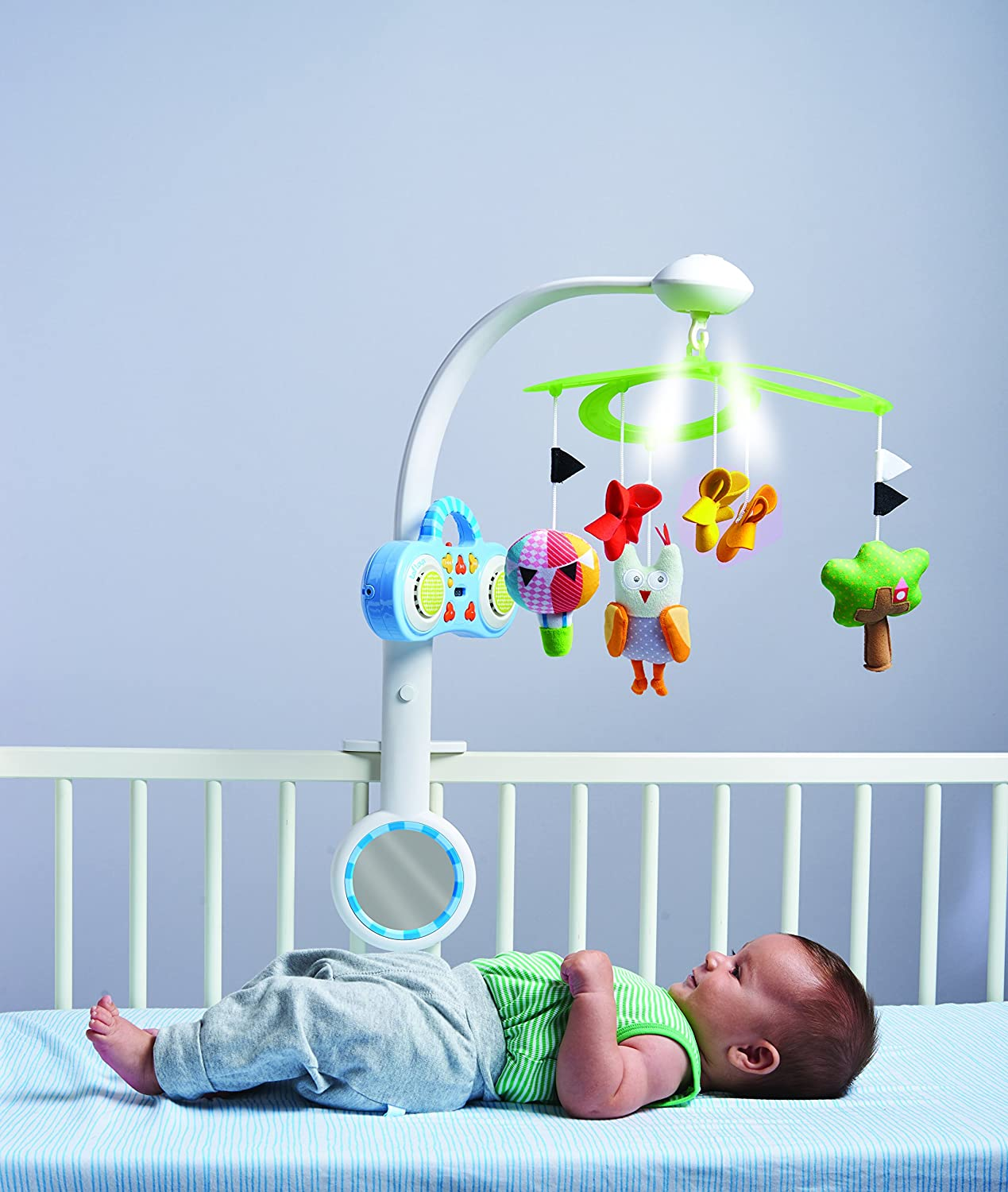 Baby bed mobile - Amazon Com Taf Toys Baby Crib Mobile Musical Stereo Mp3 Owl Baby Mobile With Detachable Mp3 Player Baby