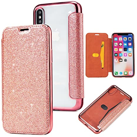 coque iphone x clapet rose