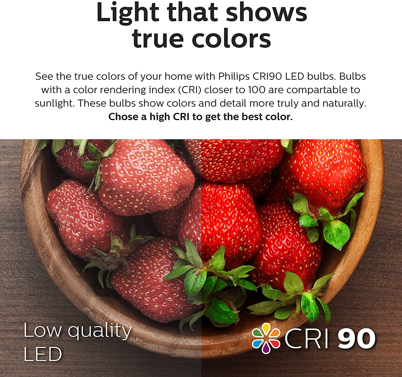 "65-Watt Equivalent Daylight 5000-Kelvin E26 Medium Screw Base 8.5-Watt Title 20 Compliant Philips LED 802678 Dimmable 5/""//6 Downlight Recessed Lighting Fixture: 750-Lumens 6-Pack"