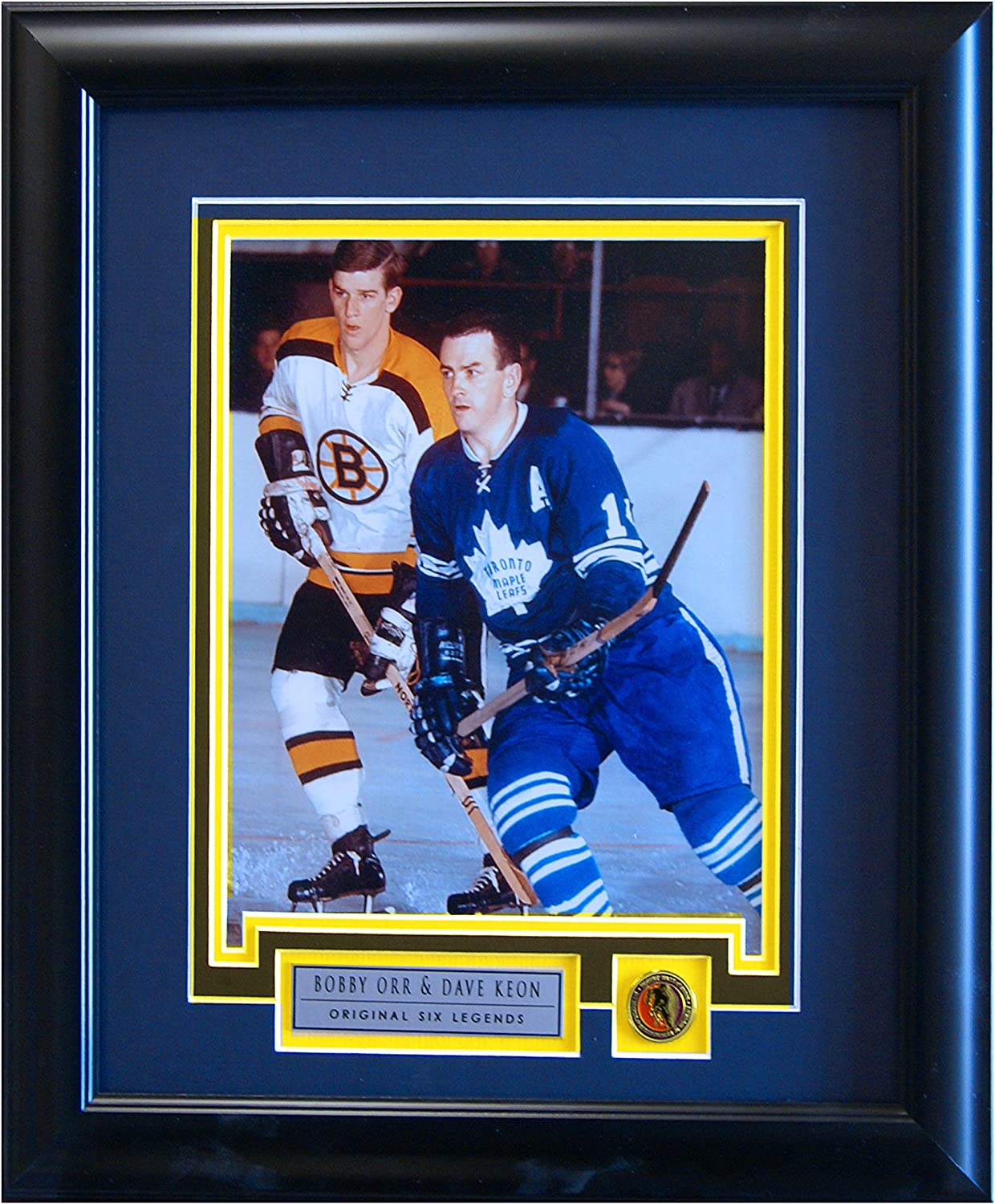 Bobby Orr and Dave Keon Photo 8X10