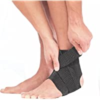 Mueller Adjustable Ankle Support, Green/ Black, One Size Fits Most