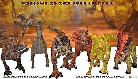 Large 6pack Dinosaurs Set Life Like And Educational Toy Bundle Boy Girl