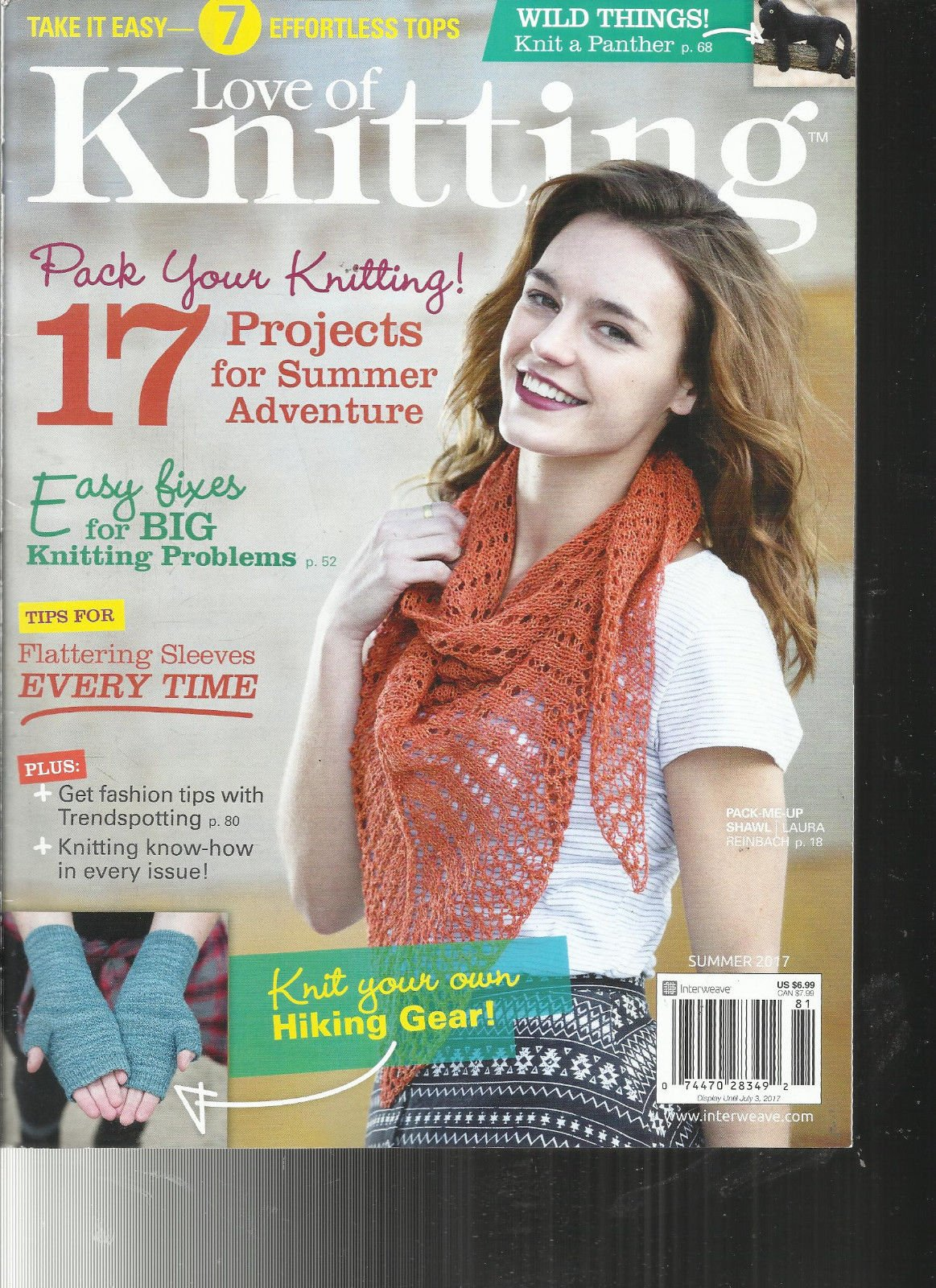 LOVE OF KNITTING MAGAZINE, SUMMER, 2017 17 PROJECTS FOR SUMMER ADVENTURE