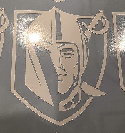 FASHIONMZ Las Vegas Golden Knights Sticker Decal Mix with Raiders Logo X3  (Gold)