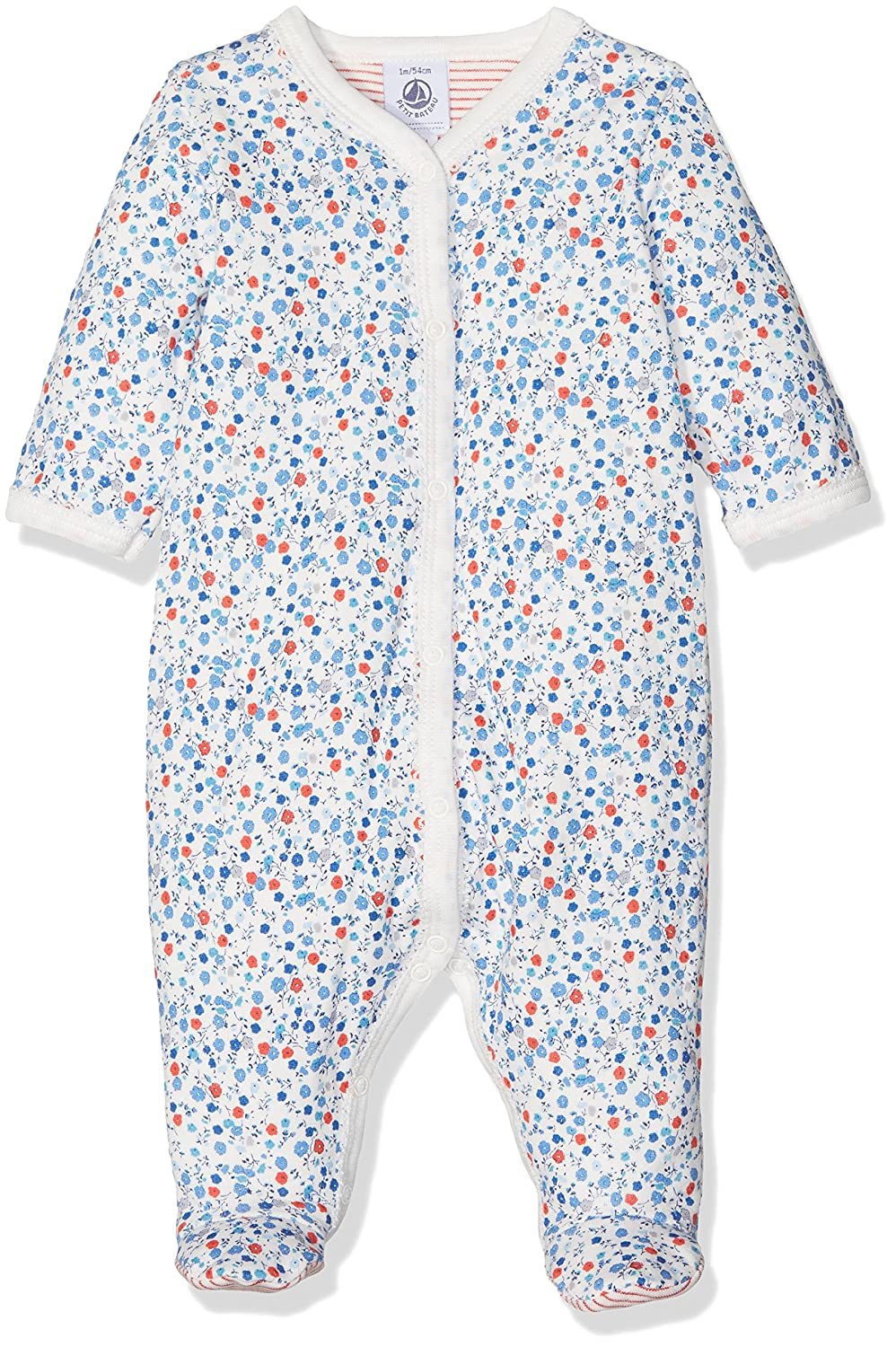 Petit Bateau Baby Girls' Sleepsuit Multicoloured (Lait/Multico) 2552870080