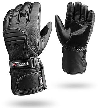 dcbf44a5fc3fce Winter Leder Motorrad Handschuhe Reflektierende Wasserdichte gepolsterte  Thermo, XL: Amazon.de: Auto