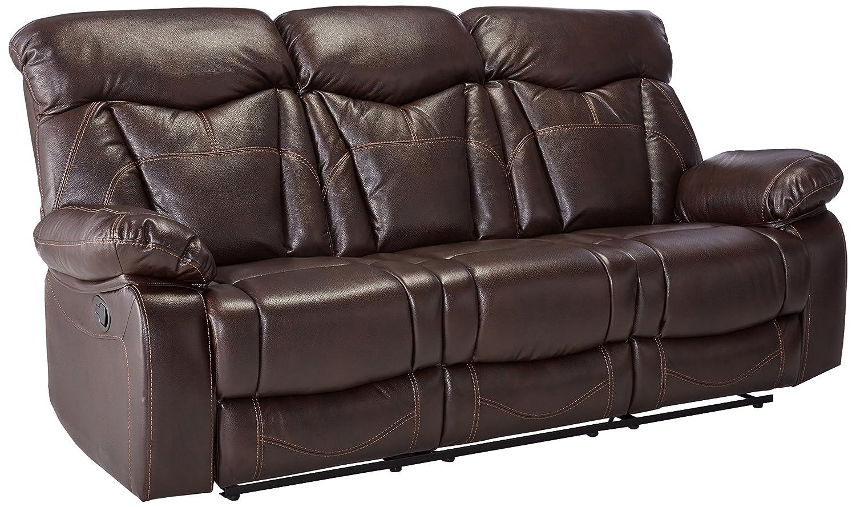Amazon com coaster home furnishings motion sofa in dark brown kitchen dining