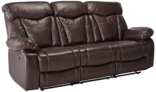 Amazon Coaster Zimmerman Casual Dark Brown Reclining Sofa With Delectable Zimmermans Furniture Model