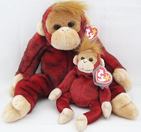 42ec3b7c47d Image Unavailable. Image not available for. Color  Ty Beanie Buddy   Baby  Orangutan Set - Schweetheart
