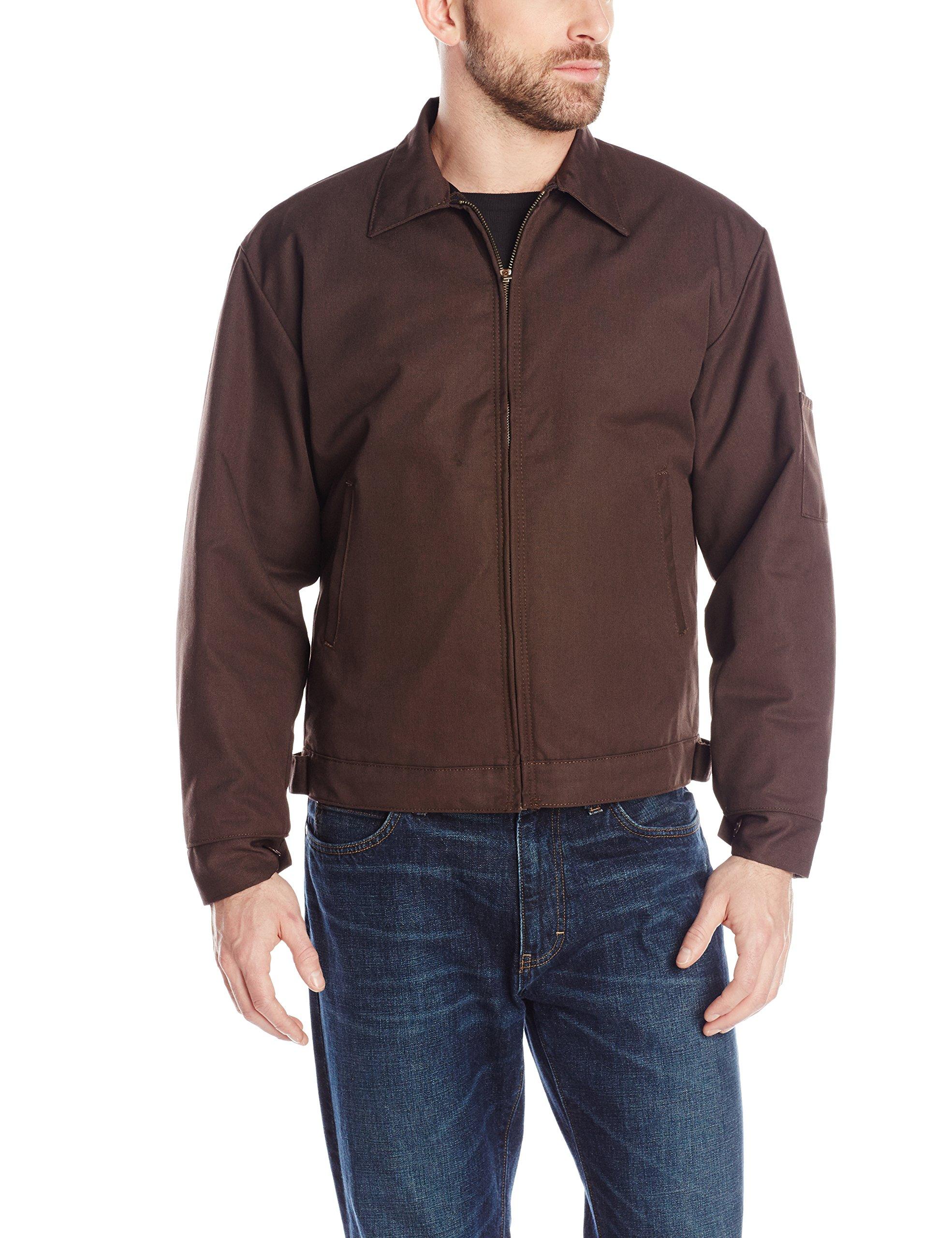 Red Kap Men's Slash Pocket Quilt-Lined Jacket, Brown, Medium by Red Kap
