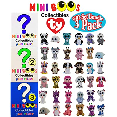 TY Mini Boos Hand Painted Collectible Figurines Series 1, 2 & 3 Blind Box Gift Set Party Bundle - 3 Pack (Asst. Box Colors) Matty's Toy Stop Exclusive: Toys & Games