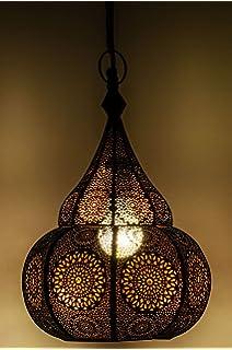 Orientalische Lampe Pendelleuchte Schwarz Malha 50cm E14